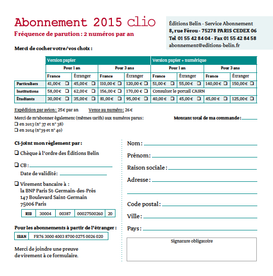 abonnementClio