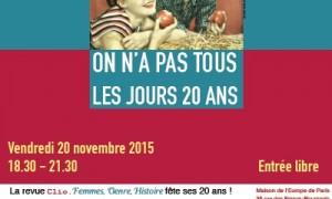 CLio Femmes, Genre, Histoire a 20 ans