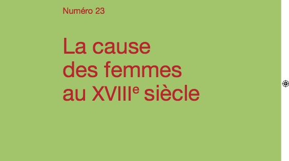 La cause des femmes au XVIIIe siècle