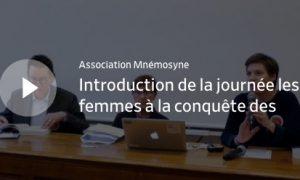 Journée d'étude 2018 (EPWS – Mnémosyne) en ligne